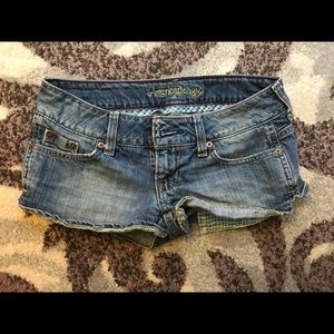 American Eagle light-wash denim shorts